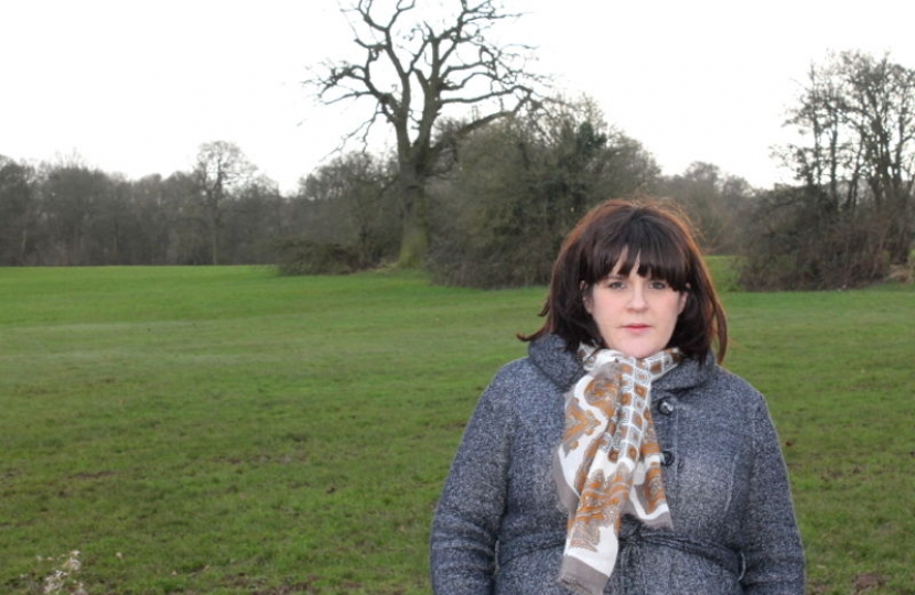 Seabridge and Westbury Park Councillor Chloe Mancey, on Bunny Hill.