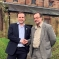 Aaron Bell MP with councillor Ian Wilkes in Audley